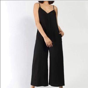 ALI GOLDEN BLACK Linen jumpsuit Size L